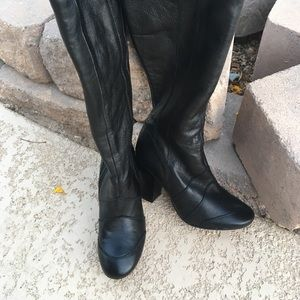 Aldo knee high leather boots, size 8